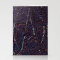 pentagram Stationery Cards featuring Cosmic Pentagram by Ishtar777