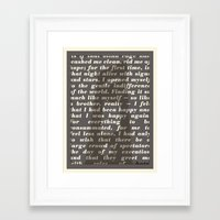 camus Framed Art Prints featuring Literary Quote Poster — The Stranger by Albert Camus by Evan Beltran
