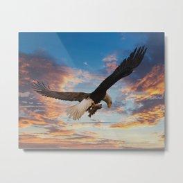Eagle on Dramatic Sky Metal Print