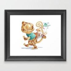 Finding Treasure Island Framed Art Print