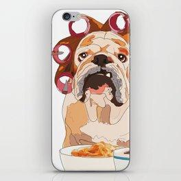 English Bulldog-Good Morning.  It's pee o'clock. iPhone Skin