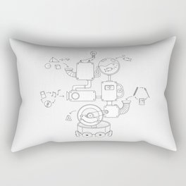 How the creative brain works? Rectangular Pillow