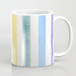 Rainbow stripes on canvas Coffee Mug