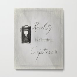 Reality is Fleeting ~ Sketched Camera ~ Ginkelmier Inspired Metal Print