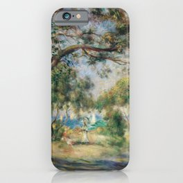 Bois de la Chaise (Paysage) (1892) by Pierre-Auguste Renoir iPhone Case