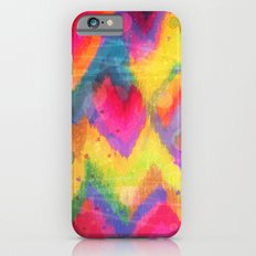 BOLD QUOTATION in NEONS 2 - Intense Rainbow Abstract Watercolor Art Painting Dream Pink Ikat Pattern Slim Case iPhone 6s