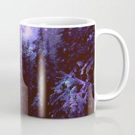 Galaxy Winter Forest Purple Coffee Mug