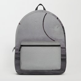 ROAD AND CIRCLE. Warecolor painting Backpack