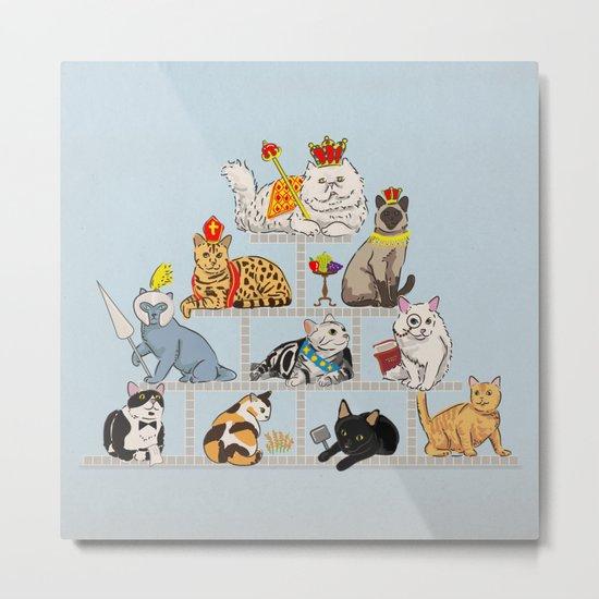 Cats Pyramid Metal Print