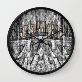"""""""Gagging on a souvenir / Lodged to fill another year"""" Wall Clock"""