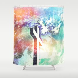 Holy Cross Pastel Distressed Shower Curtain