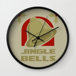 Jingle Bell - Gold Wall Clock