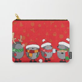 Christmas hedgehogs Carry-All Pouch