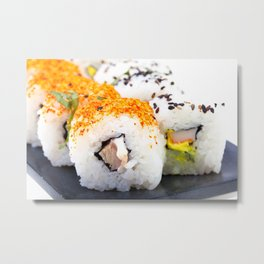 Sushi on a plate Metal Print