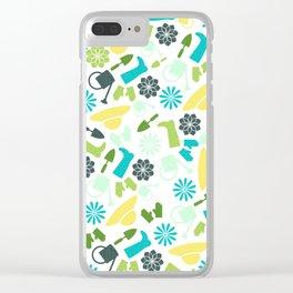 Spring Garden Print Clear iPhone Case