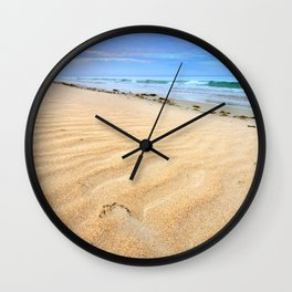 """Levante wind "" Magic Tarifa beach at sunrise Wall Clock"
