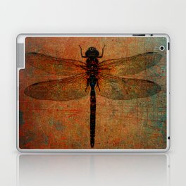 Dragonfly On Orange and Green Background Laptop & iPad Skin