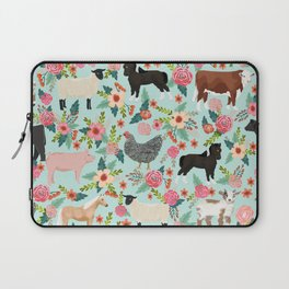 Farm gifts chickens cattle pigs cows sheep pony horses farmer homesteader Laptop Sleeve