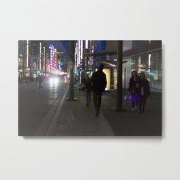 Granville St after dark 1 Metal Print
