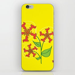 Doxie Flower iPhone Skin