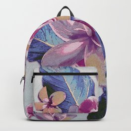Tropical Vintage Plumerias Backpack