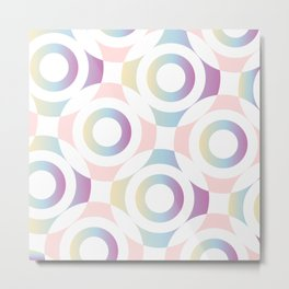 Circle composition in soft pastel colors Metal Print