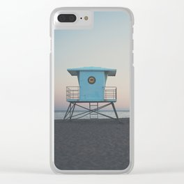 sunset on the coast ... Clear iPhone Case