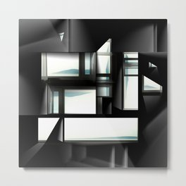 Lights by Windows Metal Print