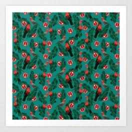 Parrots in the jungle Art Print