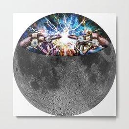 moon inside Metal Print