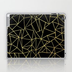 Abstraction Outline Gold on Black Laptop & iPad Skin
