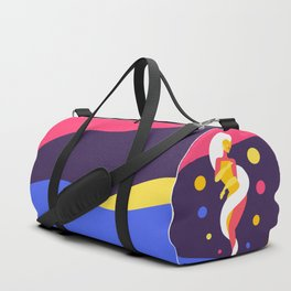 Funky Universe Colorful Lady Duffle Bag