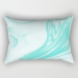 Enoshima - spilled ink abstract painting water ocean japanese wave marble marbling marbled pattern Rectangular Pillow