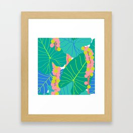Elephant Ear Leaves + Sea Grapes Framed Art Print