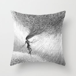 Dissociating Throw Pillow