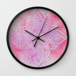 bright and sizzling lace star Wall Clock
