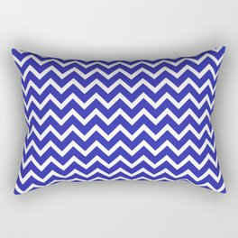Zigzag (Navy & White Pattern) Rectangular Pillow
