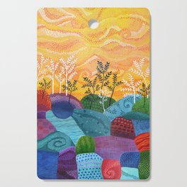 on and on fields Cutting Board