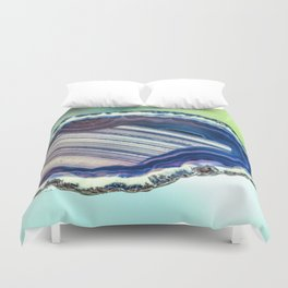 Blue purple geode Duvet Cover