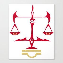 Libra Zodiac, The Scales of Justice | Divine Law Symbol Canvas Print
