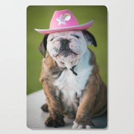 Cowgirl Puppy Cutting Board