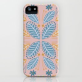 Leaves Pink iPhone Case