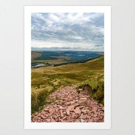 Welsh views Art Print