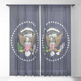 President Seal Eagle Sheer Curtain