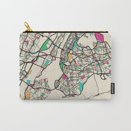 Colorful City Maps: New York City, USA Carry-All Pouch