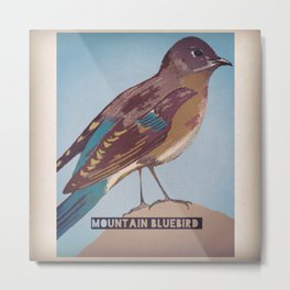 Mountan Bluebird Metal Print