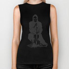 Violinist skull - grim reaper - cartoon skeleton - halloween illustration Biker Tank