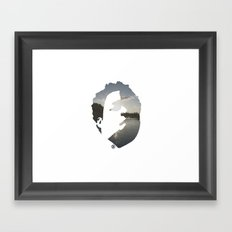 Face & The Ocean Framed Art Print