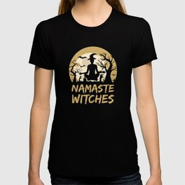 Namaste Witches Yoga Gift For Halloween T-shirt