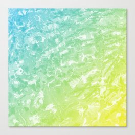 Watercolor - Green & Blue Canvas Print